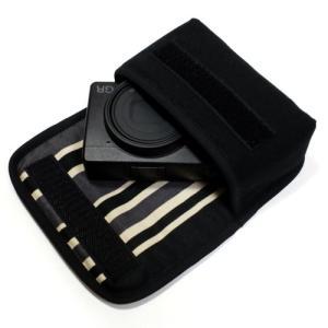 カメラケース デジカメ リコーGR3 ケース --ベルトループ付(ブラック・カーボンストライプ)