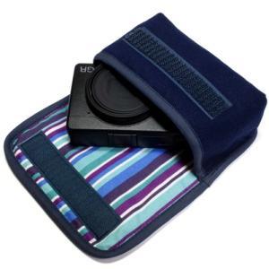 カメラケース デジカメ リコーGR3 ケース --ベルトループ付(ネイビー・アズーリ)