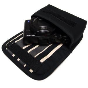 ソニーサイバーショット DSC-RX100M5/ M4 /M3ケース(ブラック・カーボンストライプ)