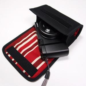 LUMIX TX1ケース(ブラック・ボルドーストライプ)--...