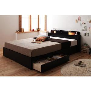 ベッド 収納ベッド ダブル 収納 マットレス付き ダブルベッド 引き出し 宮付き 照明 コンセント付き ベット|y-syo-ei