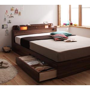 ベッド ダブル 収納ベッド 収納 マットレス付き ダブルベッド 引き出し 宮付き 照明 コンセント付き フロアベット 収納機能付ベッド|y-syo-ei