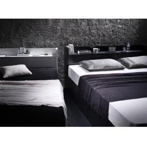 ベッド 収納 シングル フレーム 棚・コンセント付き収納ベッド ヴェガ フロアベッド フロアベット シングルサイズ シングルベッド|y-syo-ei|03