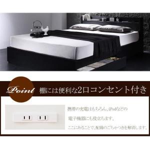 ベッド 収納 シングル フレーム 棚・コンセント付き収納ベッド ヴェガ フロアベッド フロアベット シングルサイズ シングルベッド|y-syo-ei|05