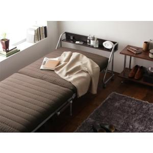 リクライニングベッド 折りたたみベッド 宮付き コンパクト|y-syo-ei