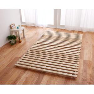 すのこベッド ダブル 折りたたみ 二つ折り ベッド スノコベッド すのこベット スノコベット 折り畳み コンパクト 省スペース|y-syo-ei