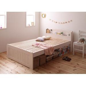 ベッド すのこベッド ダブル フレームのみ スノコベッド 宮棚 コンセント付きベット 北欧|y-syo-ei