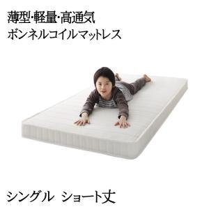 子どもの睡眠環境を考えた 安眠マットレス 薄型・軽量・高通気 【EVA】 エヴァ ジュニア ボンネルコイル コンパクトショート シングル|y-syo-ei