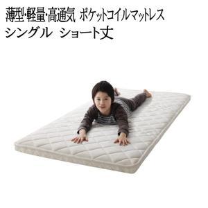 子どもの睡眠環境を考えた 安眠マットレス 薄型・軽量・高通気 【EVA】 エヴァ ジュニア ポケットコイル コンパクトショート シングル|y-syo-ei
