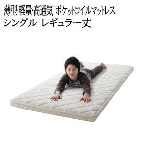 子どもの睡眠環境を考えた 安眠マットレス 薄型・軽量・高通気 【EVA】 エヴァ ジュニア ポケットコイル レギュラー シングル|y-syo-ei