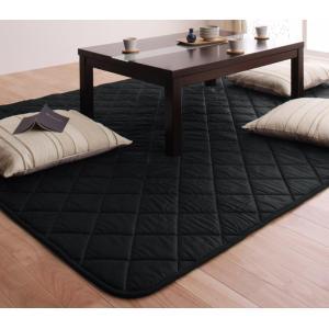 「黒」日本製ウレタン入りこたつ敷布団正方形サイズ y-syo-ei