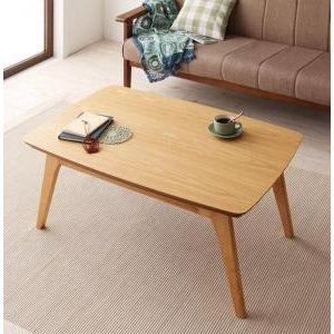 天然木オーク材 北欧デザインこたつテーブル 【Trukko】トルッコ/長方形(90×60)|y-syo-ei