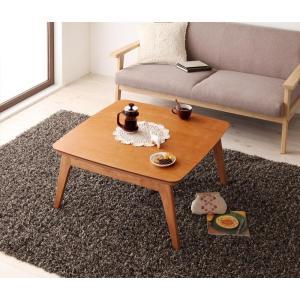天然木チェリー材 北欧デザインこたつテーブル 【Milkki】ミルッキ/正方形(75×75)|y-syo-ei