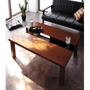 こたつテーブル 長方形 105×75 こたつ テーブル アーバンモダンデザインこたつテーブル Brent Wood ブレントウッド 薄型ヒーター 暖房器具|y-syo-ei