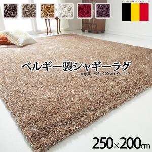 ベルギー製 ウィルトン織り シャギーラグ リエージュ 200x250cm|y-syo-ei