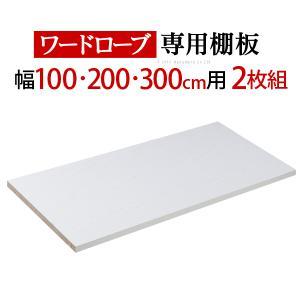 クローゼット ワードローブ アルミフレーム大型スライドドア 〔サローネ〕 ワードローブ 専用棚板 本体幅100/200/300cm用 2枚組 棚板 y-syo-ei