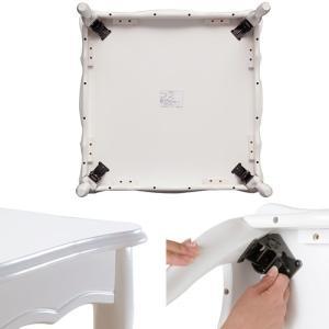 折れ脚式猫脚テーブル Lisana〔リサナ〕 75×75cm テーブル ローテーブル 姫系 家具|y-syo-ei|03