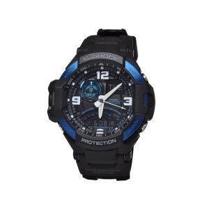 カシオCASIOジーショックG-SHOCK [GA-1000-2B] スカイコックピット SKY COCKPIT アナデジ メンズ腕時計/ブルー×ブラック