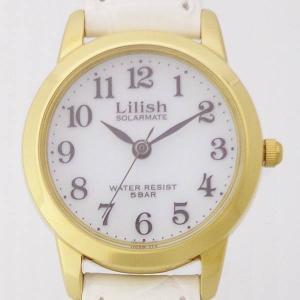 シチズン時計 リリッシュ Lilish  H049-114  SOLARMATE 丸型3針 ソーラー レディス 腕時計 革 ウォッチ 電池交換不要 スタイリッシュ エレガントの画像