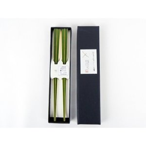 青箸2膳セット 国産 日本製 お箸 取り箸 青竹 上品 シンプル 鮮やかな色 持ちやすい つまみやすい 使いやすい ゆうパケットでお届け|y-takei