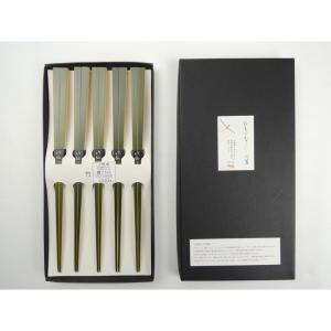 青箸5膳セット 国産 日本製 お箸 取り箸 青竹 上品 シンプル 鮮やかな色 持ちやすい つまみやすい 使いやすい ゆうパケットでお届け|y-takei
