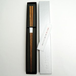 ごま竹箸 小 22.5cm 1膳 国産 日本製 ごま模様の珍しいお箸 上品 シンプル 漆塗り 高級品 お祝い 内祝い 贈り物 ゆうパケットでお届け|y-takei