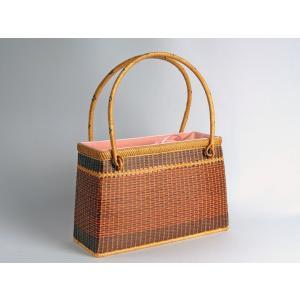 ござ目バッグ 赤 角 竹製 竹かご 竹バッグ かごバッグ マルシェ かご 篭 籠 バッグ レディース プレゼント 普段使い バッグ 小物 楽天店より15%OFF|y-takei