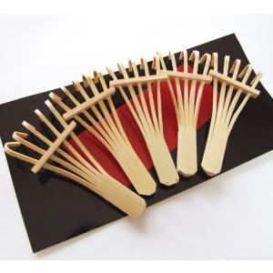 箸置き 熊手 5個セット 箸まくら 竹を細工して作ったくまでの形をした箸置き ご家族で 食卓 天然素材 安心安全 楽天店より15%OFF|y-takei
