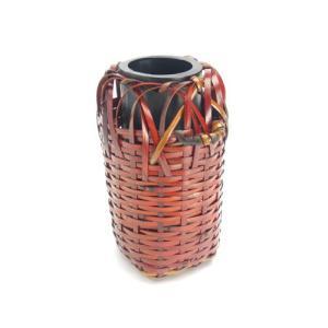 花器 わび助 6cm×11cm 竹かご 国産 日本製 赤く色づいた竹 印象的な花瓶 花入 篭 掛かご 置かご 茶室 床の間 仏間 玄関 プレゼント 楽天店より15%OFF y-takei