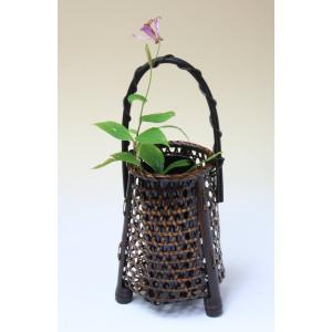 由布竹花篭 かすみ草 国産 日本製 竹かご 篭 花を彩る 花瓶 部屋が華やぐ 花が引き立つ 茶室 床の間 仏間 玄関 棚 テーブル 贈り物 楽天店より15%OFF y-takei