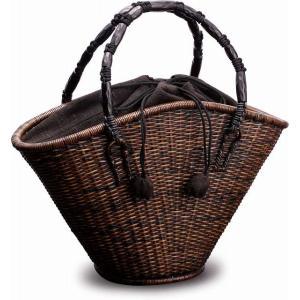 在庫要確認 ござ目編み 扇形バッグ W39cm カゴ 国産 日本製 別府産 かごバッグ 籐 皮籐 組み紐 綿 天然素材 職人手作り 高級品 プレゼント 鞄 楽天店より15%OFF y-takei