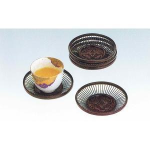 朝顔茶托揃 国産 日本製 最高級 職人手作り とても綺麗な茶たく 普通の湯のみもガラスコップもよく合う 由布竹 お手入れ簡単 楽天店より15%OFF|y-takei