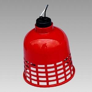 387-50 工事灯 すずらん灯 赤カバー 2mもの 電球20W付 ユニット UNIT