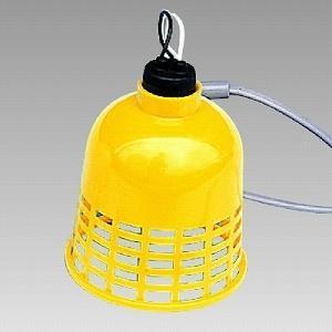 387-52 工事灯 すずらん灯 黄カバー 2mもの 電球20W付 ユニット UNIT
