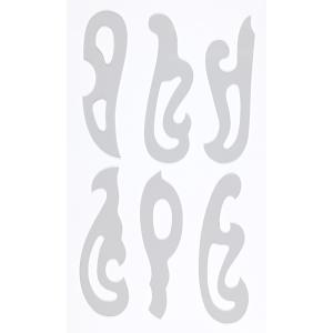 日本製 雲形定規 アクリル製 6枚組 18x5.5cmx1.0mm厚 002-001 ネコポス送料無...