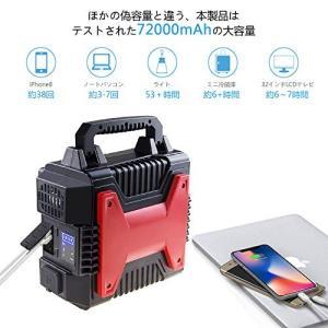 【出力方法・入力方法】USB出力口・AC出力口・DC出力口、シガーソケットがあり、どんな機器でも対応...