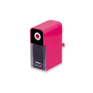 芯調整つき あんしんけずりき ピンク Asmix(鉛筆削り 手動 指をはさまない)|y-wakka