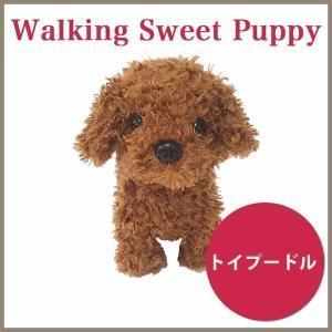 ウォーキングスイートパピー 歩くワンコ トイプードル(ぬいぐるみ 歩く 動く かわいい プレゼント 犬 いぬ おもちゃ)|y-wakka