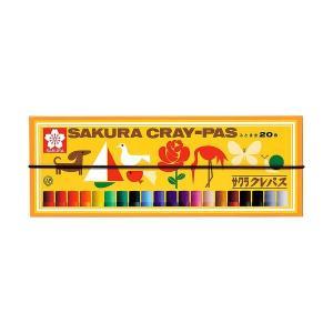 サクラクレパス クレパス太巻20色 ゴムひも付 太巻き 紙箱入り クレパス クレヨン 小学生 工作 図工 y-wakka