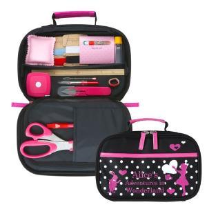 ミササ 裁縫セット クラフトバックアリス 12点セット 運針用布プレゼント 裁縫道具セット 裁縫キット 裁縫バッグ ソーイングセット  女の子 小学生 かわいい|y-wakka