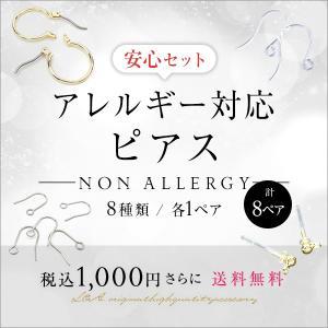 New アレルギー対応ピアスパーツ スターターセット お試しセット ピアス金具 樹脂ポストピアス チタンポストピアス ポリプロピレン ステンレス|ya-partsland