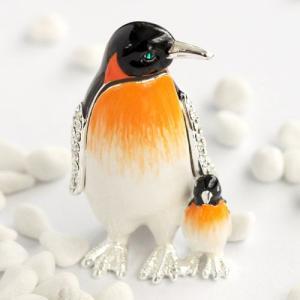ジュエリーボックス アクセサリーケース 親子ペンギン  アクセサリー収納|ya-piearth