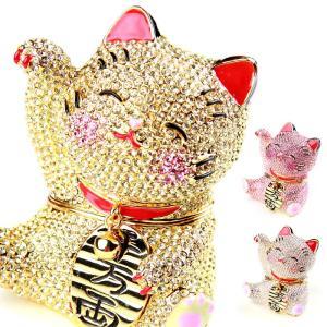 ジュエリーボックス アクセサリーケース 煌めき招き猫  アクセサリー収納 ya-piearth