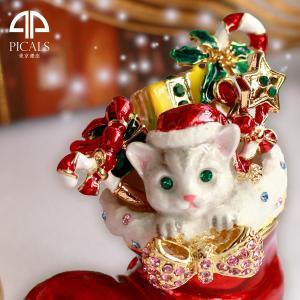 ジュエリーボックス アクセサリーケース モモのクリスマス  アクセサリー収納 ya-piearth