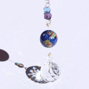 ジュエリーボックス 天然石地球儀サンキャッチャー|ya-piearth
