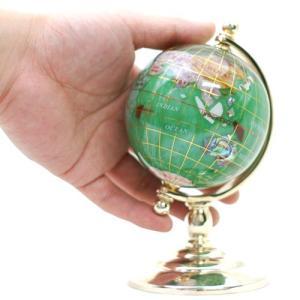 ジュエリーボックス 8cmパール地球儀(1脚) 天然石地球儀|ya-piearth