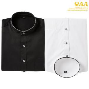 スタンドカラーシャツ メンズ シャツ 長袖シャツ 白シャツ ホワイトシャツ 立ち襟 ビジネスカジュアル スリム 紳士 男性用 40代 50代 秋夏|yaa