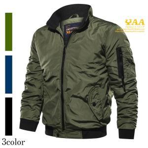 ミリタリージャケット メンズ ジャケット はおり MA1 中綿入り ジャンパー ブルゾン メンズジャケット jacket 暖かい 秋|yaa