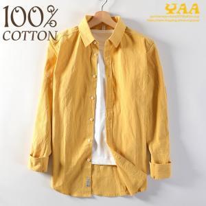 メンズ カジュアルシャツ 100%コットン 綿シャツ ワークシャツ ミリタリーファッション トップス 長袖 お兄系 ファッション|yaa