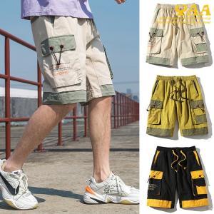 カーゴパンツ ショート丈 メンズ ミリタリーファッション ハーフパンツ ショートカーゴパンツ 半ズボン 短パン ストリート系 2020 夏|yaa